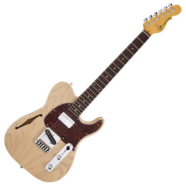 G&L Tribute ASAT Classic Bluesboy Semi-Hollow, Blonde Full Guitar