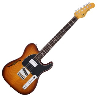 G&L Tribute ASAT Classic Bluesboy Semi-Hollow, Tobacco Sunburst Full Guitar