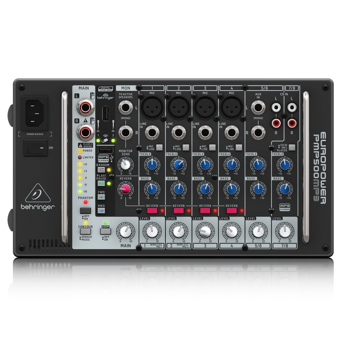 behringer pmp500mp3 500w 8 channel powered mixer at gear4music. Black Bedroom Furniture Sets. Home Design Ideas