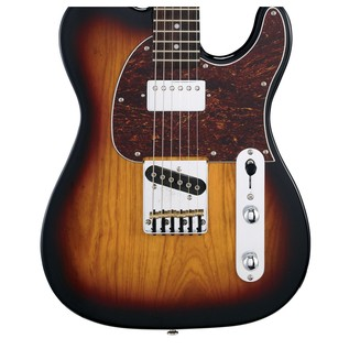 G&L Tribute ASAT Classic Bluesboy, 3-Tone Sunburst Body View