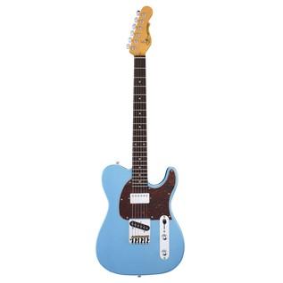 G&L Tribute ASAT Classic Bluesboy, Lake Placid Blue Front View