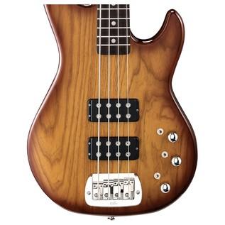 G&L Tribute L-2000 Electric Bass, Tobacco Sunburst Body View