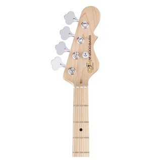 G&L Tribute M-2000 Electric Bass, 3-Tone Sunburst Neck View