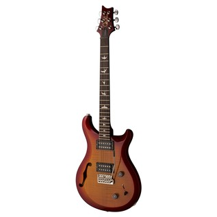 PRS S2 Custom 22 Semi-Hollow Guitar, Dark Cherry Sunburst (2017) 2