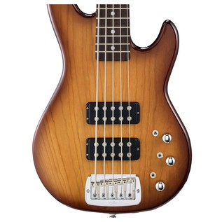 G&L Tribute L-2500 Electric Bass, Tobacco Sunburst Body View