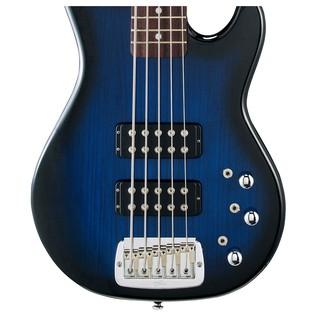 G&L Tribute L-2500 Electric Bass, Blueburst Body View