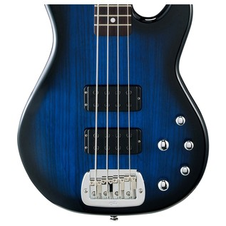 G&L Tribute M-2000 Electric Bass, Blueburst Body View
