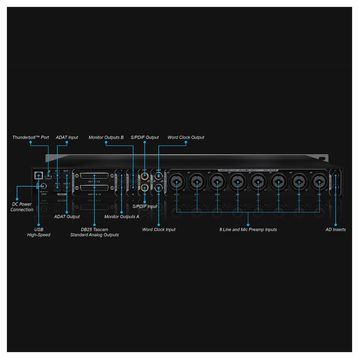 antelope audio orion studio thunderbolt and usb audio interface at Midi Cable Wiring Diagram loading zoom