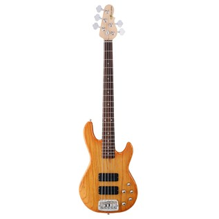 G&L Tribute M-2500 Electric Bass, Honeyburst Front View