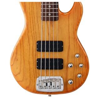G&L Tribute M-2500 Electric Bass, Honeyburst Body View