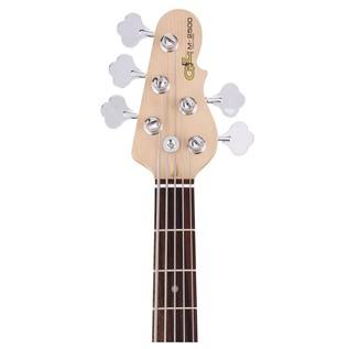 G&L Tribute M-2500 Electric Bass, Honeyburst Neck View