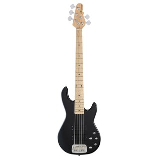 G&L Tribute M-2500 Electric Bass, Gloss Black Front View