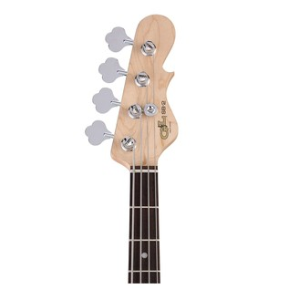 G&L SB-2 Electric Bass, Gloss White Neck View