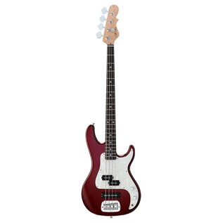 G&L SB-2 Electric Bass, Bordeaux Red Front View
