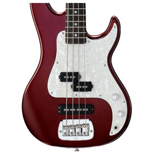 G&L SB-2 Electric Bass, Bordeaux Red Body View