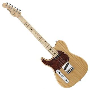 G&L Tribute ASAT Classic Electric Guitar, Left Handed Natural Gloss Full Guitar