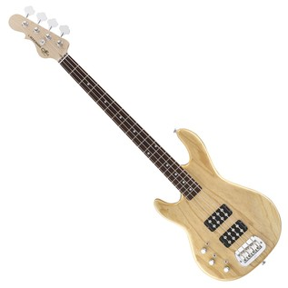 G&L Tribute L-2000 Electric Bass, Left Handed Natural Gloss Full Guitar