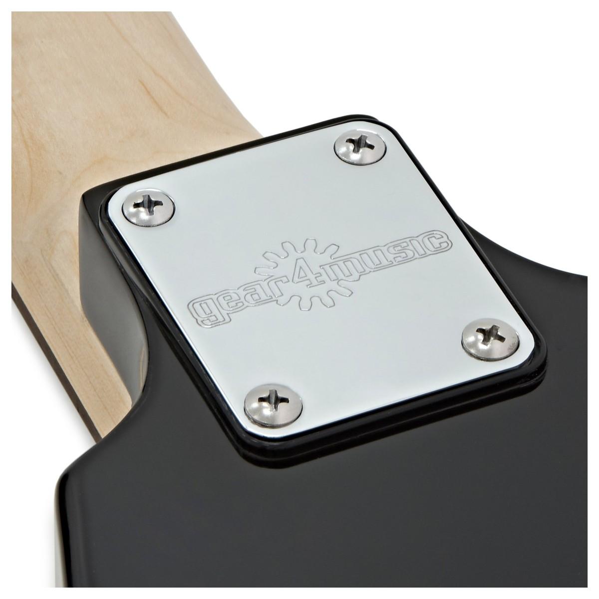 69e1fa2e92 Harlem V Electric Guitar + Case by Gear4music, Black - Box Opened at ...