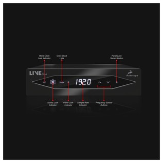 Antelope Audio LiveClock Portable Master Clock - Front Annotated