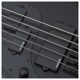Schecter Stiletto Stealth-5 Left Handed Bass Guitar