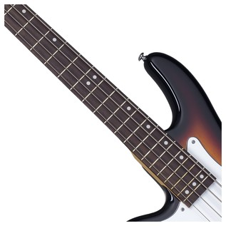 Stiletto Vintage-4 Left Handed Bass Guitar, 3-Tone Sunburst