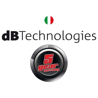 dB Technologies 5 Year Warranty