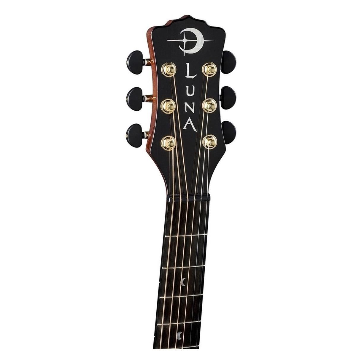 Luna Vista Deer Tropical Wood Electro Acoustic W Case At Gear4music