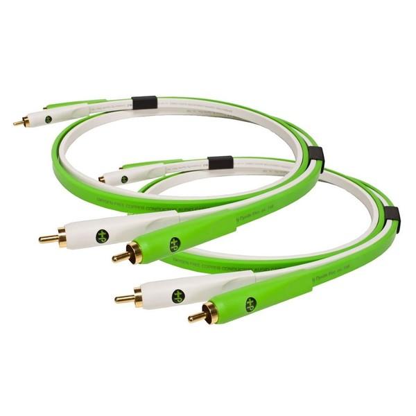 Neo Oyaide d+ RCA Class B DUO Set, 1 Metre, Green 1