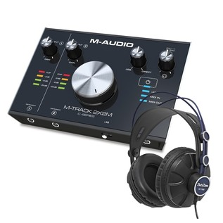 M-Audio M-Track 2x2M Audio Interface With SZ-7080 Headphones - Bundle