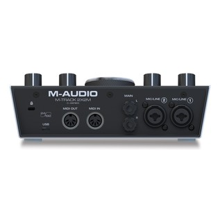 M-Audio M-Track 2x2M Audio Interface - Rear
