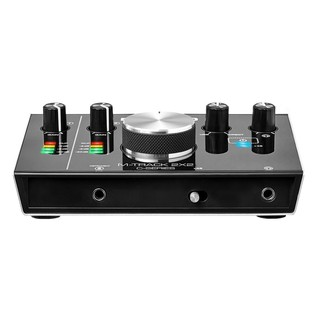M-Audio M-Track 2x2 Audio Interface With SubZero SZM-11 Mic & Stand - Interface Front