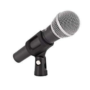 SubZero SZM-11 Dynamic Vocal Microphone - Angled With Clip