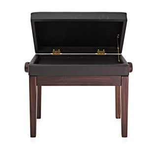 Deluxe Piano Stool with Storage by Gear4music, RW