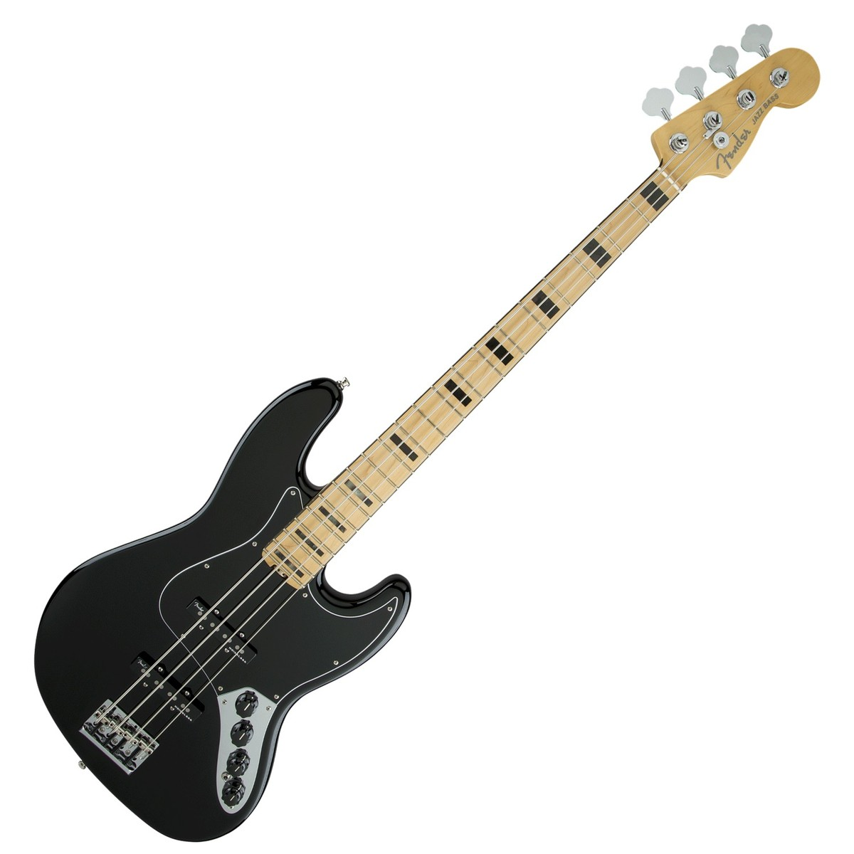 Fender American Elite Jazz Bass Mn  Black