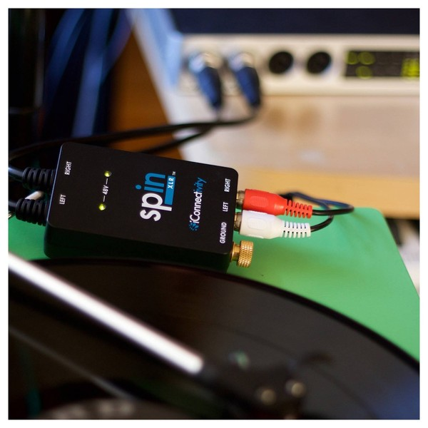 iConnectivity spinXLR Turntable Interface - Lifestyle