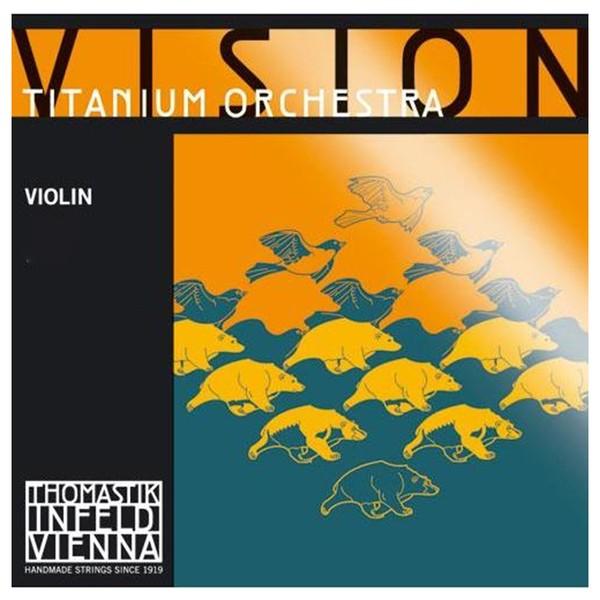 Thomastik Vision Titanium Orchestra Violin String Set, 4/4 Size