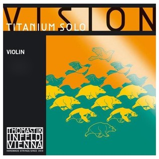 Thomastik Vision Titanium Solo 4/4 Violin D String, Silver Wound