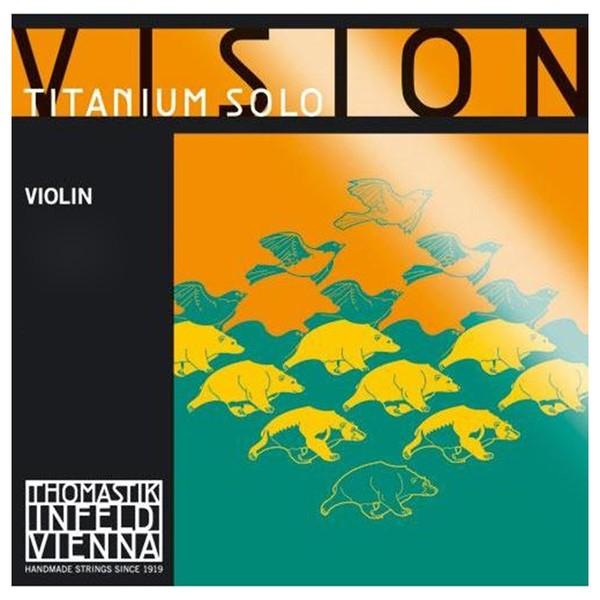 Thomastik Vision Titanium Solo Violin String Set, 4/4 Size