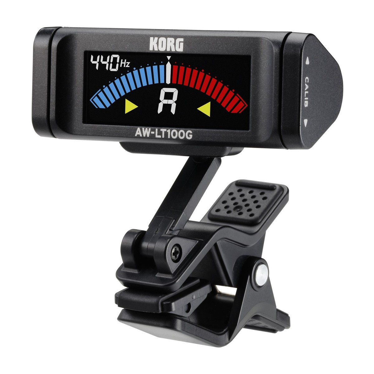 Clip On Guitar Tuner >> Korg Aw Lt100g Clip On Guitar Tuner At Gear4music