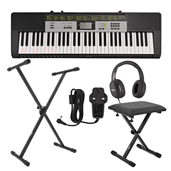 Casio LK 135 Keylighting Keyboard, X Frame Bundle