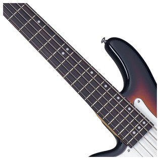 Stiletto Vintage-5 Left Handed Bass Guitar, 3-Tone Sunburst