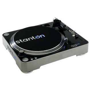 Stanton T.55 Belt-Drive USB Turntable - Angled