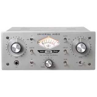Universal Audio 710 Twin-Finity™ Tone-Blending Mic Preamp & DI Box (Front)