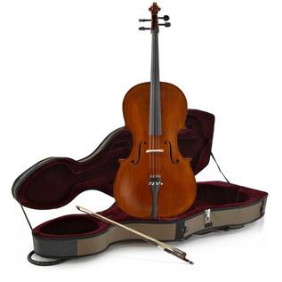 Archer 4/4 Size Cello and Fibreglass Case by Gear4music