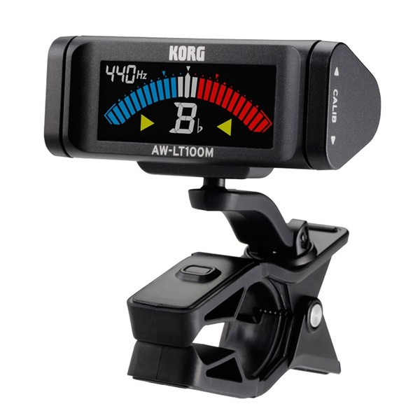 Korg AW-LT100M Large Clip-on Orchestral Tuner- Angle