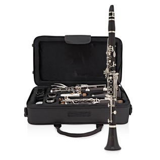 Rosedale Professional Ebony Bb Clarinet, By Gear4music