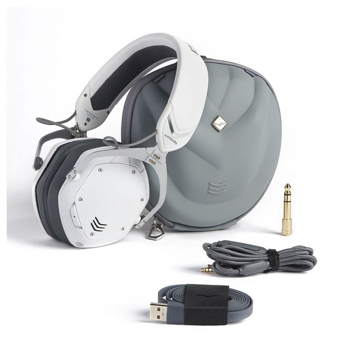 V Moda Crossfade Wireless Ii Bluetooth Headphones White At Gear4music Extra Fan Suzuki Carry Full Contents Loading Zoom