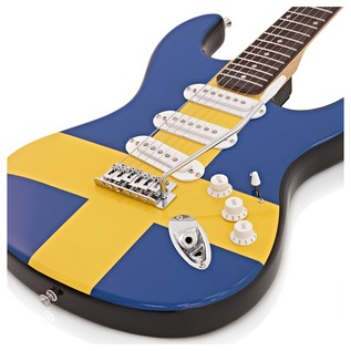 LA Electric Guitar by Gear4music, Swedish Flag