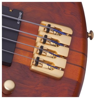 SchecterStiletto Studio-4 FL Left Handed Bass, Honey Satin