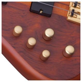 Left Handed SchecterStiletto Studio-4 FL Bass Guitar, Honey Satin